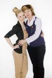 Deux femmes dans les procès Photographie stock