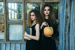 Deux femmes de vintage comme sorcières Photographie stock libre de droits