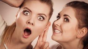 Deux femmes disant le bavardage Photos stock