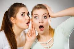Deux femmes disant le bavardage Photographie stock libre de droits