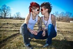 deux femmes jeunes Image stock