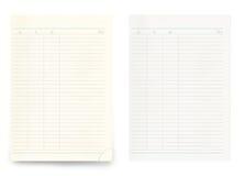 Deux feuilles en blanc de carnet d'isolement sur le fond blanc Image stock