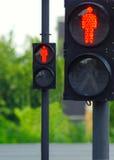 Deux feux de signalisation Photographie stock