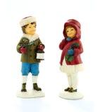 Deux figurines d'enfant Photos stock