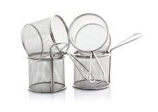 Deux fil vide Chip Baskets Images libres de droits