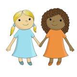 Deux filles illustration stock