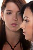 Deux filles après un argument Image libre de droits