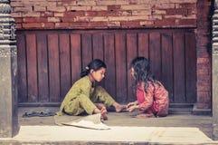 Deux filles au Népal Image libre de droits