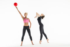 Deux filles avec des boules Photo stock