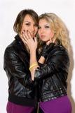 Deux filles avec du charme espiègles Photo stock
