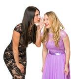 Deux filles communiquent les uns avec les autres Images libres de droits