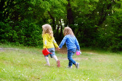 Deux filles d'amis Photo libre de droits