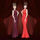 Deux filles de charme Photo libre de droits