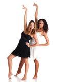 Deux filles de danseur Photographie stock libre de droits