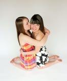 Deux filles de l'adolescence Photographie stock libre de droits