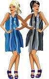 Deux filles de mode Photographie stock
