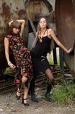 Deux filles de mode images libres de droits