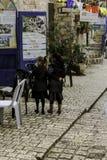 Deux filles faisant des emplettes en Tiberius Photos stock