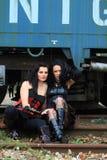 Deux filles gothiques Photo libre de droits