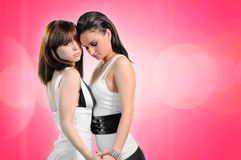 Deux filles lesbiennes Photos libres de droits