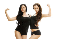 Deux filles sexy Image libre de droits