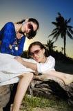Deux filles sur la plage Photos libres de droits