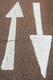 Deux flèches Photo libre de droits