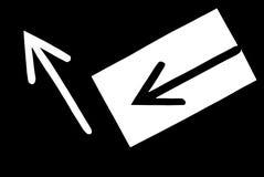 Deux flèches Images libres de droits
