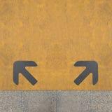 Deux flèches grises Photo libre de droits