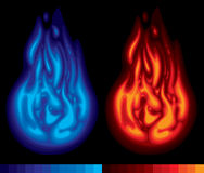 Deux flammes Photos libres de droits