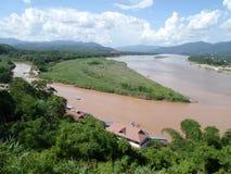 Deux fleuves photo stock