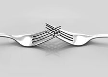 Deux fourchettes Image stock