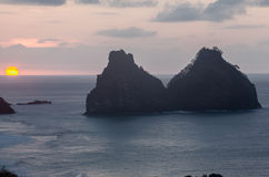 Deux frères Fernando de Noronha Island Photo stock