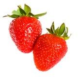 Deux fraises Photographie stock libre de droits
