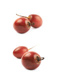 Deux fruits de tamarillo d'isolement Photographie stock