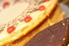 Deux gâteaux délicieux Images stock