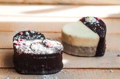 Deux gâteaux d'amour Photos stock
