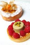 Deux gâteaux doux Images libres de droits