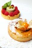 Deux gâteaux doux Photo stock