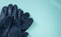 Deux gants en cuir Image libre de droits