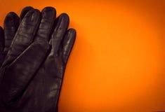 Deux gants en cuir Images libres de droits