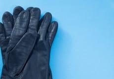 Deux gants en cuir Image stock