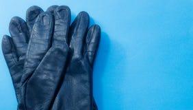 Deux gants en cuir Photographie stock