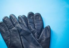 Deux gants en cuir Photos libres de droits