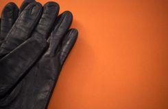 Deux gants en cuir Images stock