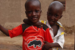 Deux garçons africains Images stock