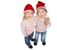 Deux garçons asiatiques heureux Photo stock