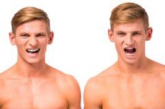 Deux garçons jumeaux photos stock