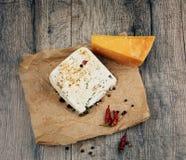 Deux genres de fromage Photos libres de droits