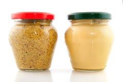 Deux genres de moutarde Photos libres de droits
